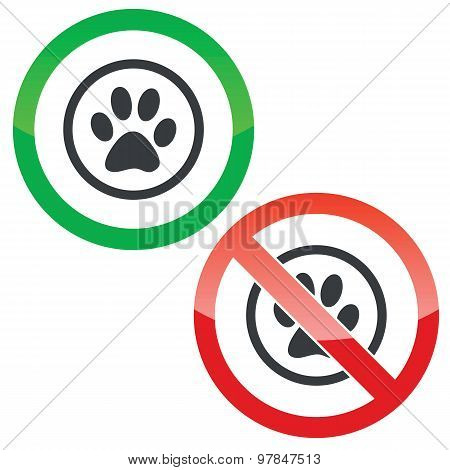 Animal permission signs