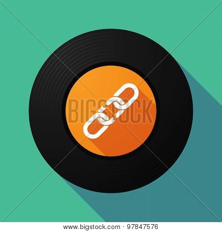 Vinyl Record With A Broken Chain