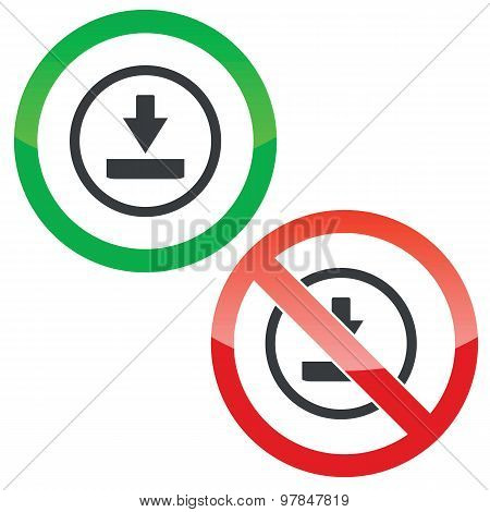 Download permission signs