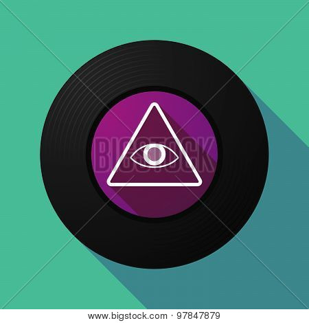 Vinyl Record With An All Seeing Eye