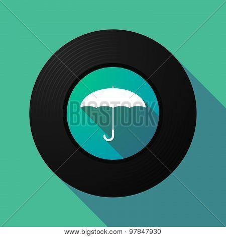 Vinyl Record With An Umbrella