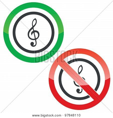 Music permission signs 1