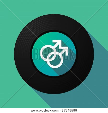 Vinyl Record With A Gay Sign