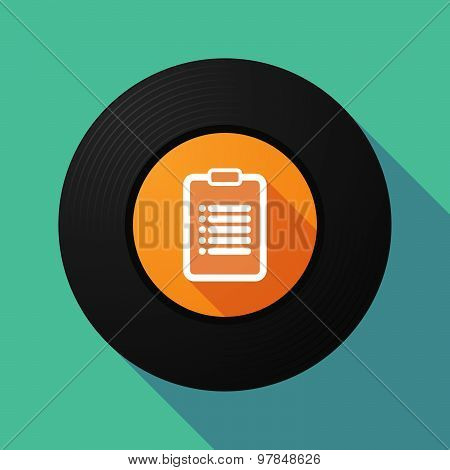 Vinyl Record With A Report