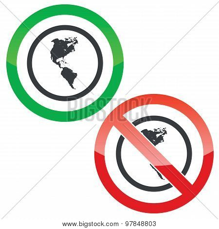 America permission signs