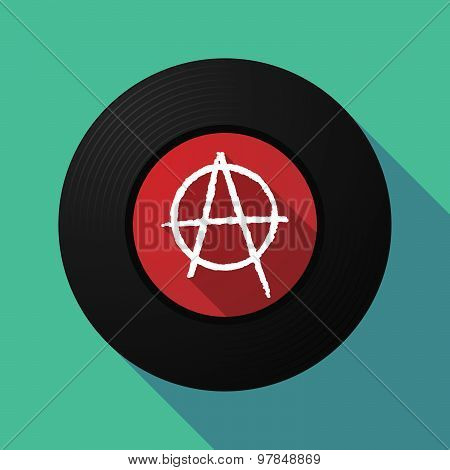 Vinyl Record With An Anarchy Sign
