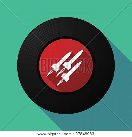 Vinyl Record With Missiles