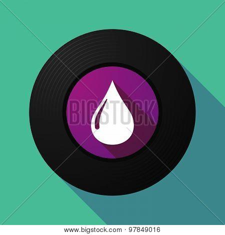 Vinyl Record With A Fuel Drop