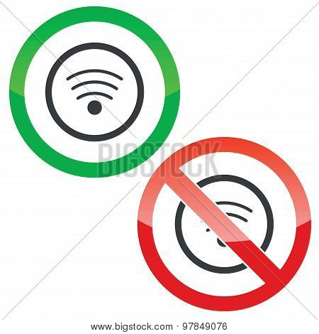 Wi-Fi permission signs