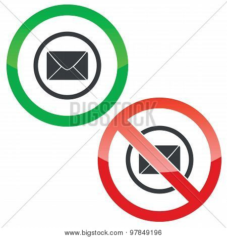 Letter permission signs
