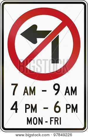No Left Turn In Times In Canada