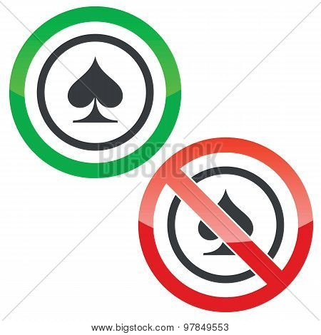 Spades permission signs