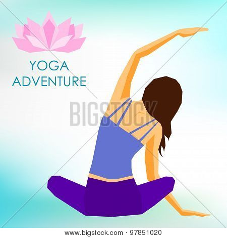 Young Girl Practicing Yoga. Healthy Lifestyle And Sports Theme