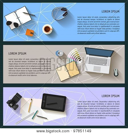 Isolated Objects Used  Modern People In Everyday Life. Flat Style