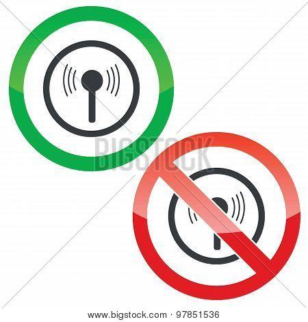Signal permission signs