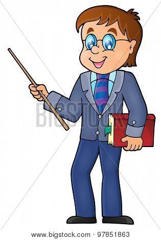 Man teacher theme image 1 - eps10 vector illustration.