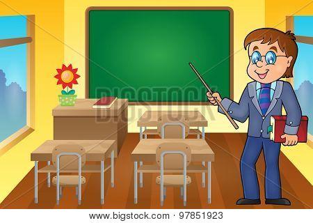 Man teacher theme image 6 - eps10 vector illustration.