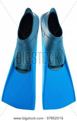 Scuba Flippers Isolated On White Background