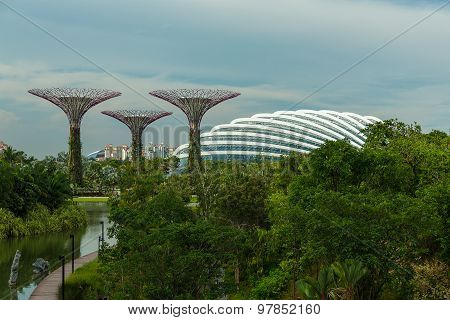 Singapore - May 12: Gardens By The Bay On Mar 12, 2014 In Singapore. Gardens By The Bay Was Crowned