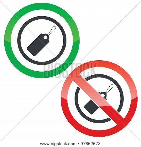 String tag permission signs