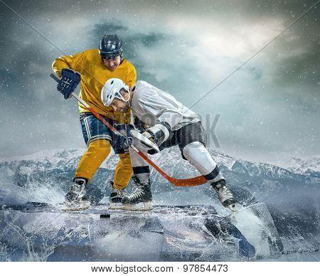 Ice hockey player on the ice