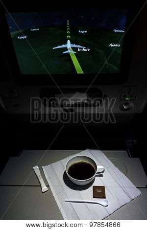 Modern Airplane Interior