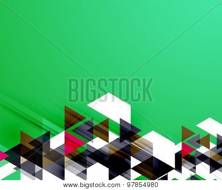 Triangle pattern composition, abstract background with copyspace.  illustration