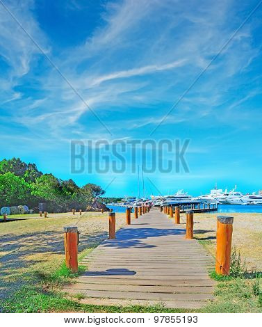 Wooden Boardwalk In Porto Cervo