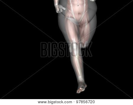 Concept or conceptual 3D fat overweight vs slim fit diet with muscles young man isolated on black background
