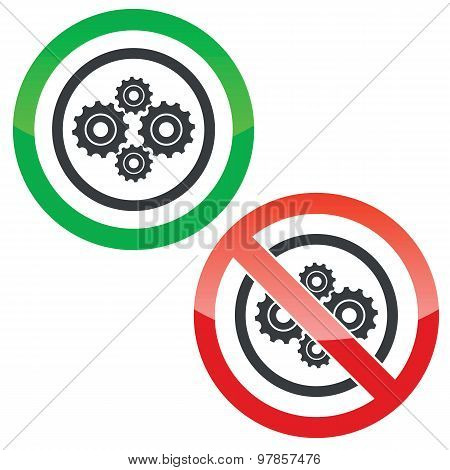 Cogs permission signs