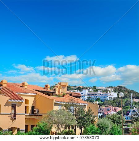 Porto Cervo Buildings On A Clear Day