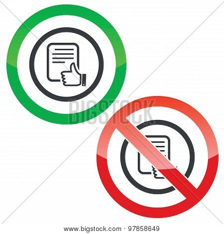 Good document permission signs