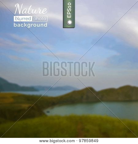 Blurred photo background. Vector.