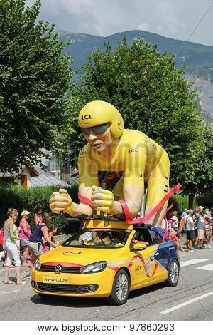 Publicity caravan on the Tour de France