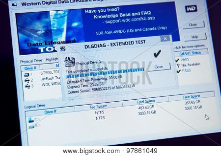 Western Digital Data Lifeguard Diagnostics Test Result