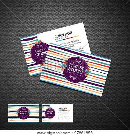 Two sided presentation of a creative business or visiting card for your conpany on stylish background.