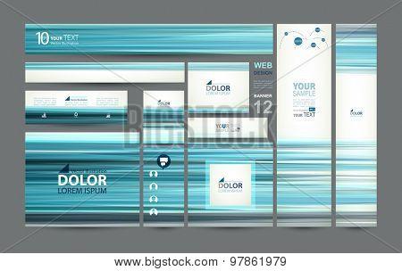 twelve web banners of standard size