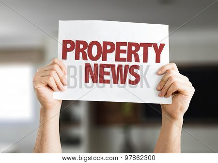 Property News card with house on background
