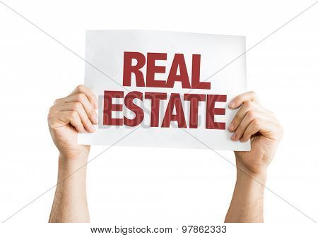 Real Estate card isolated on white