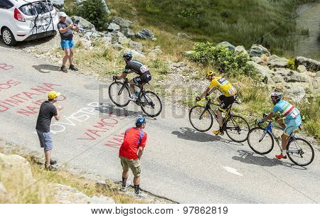 The Yellow Jersey On The Mountains Roads