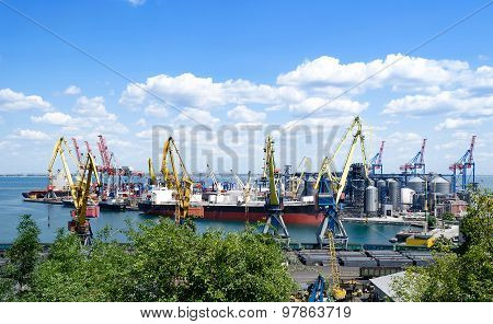 Container terminal, deep-water port