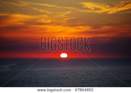 Red Sunset - Sky And Sea