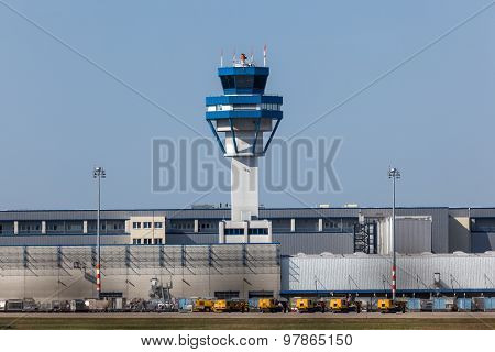 Control Tower At The Cologne Airport