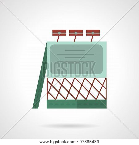 Lighted billboard flat vector icon