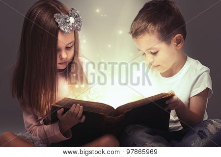 Small Couple Opened A Magic Book