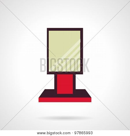 Red city-light flat vector icon