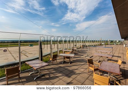 Visitors Terrace Of The Dortmund Airport, Germany