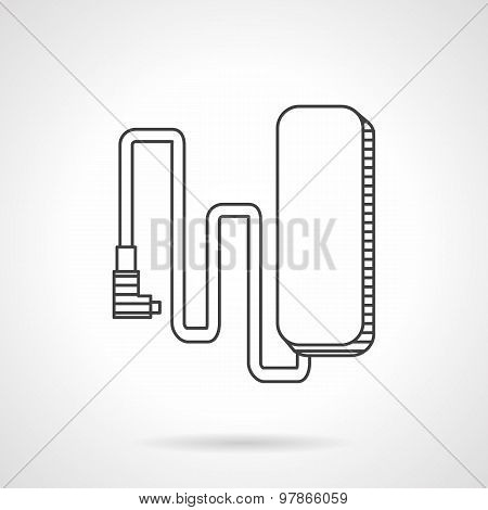 E-bike charge line vector icon