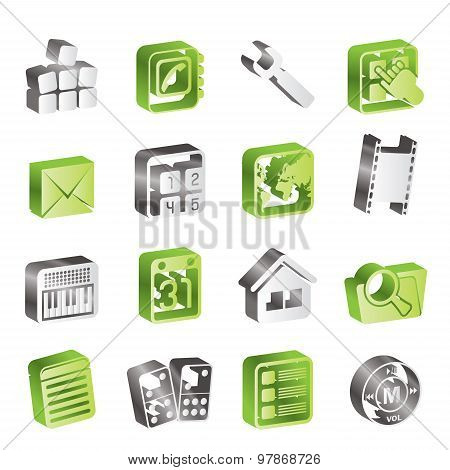 Simple Mobile Phone and Computer icon