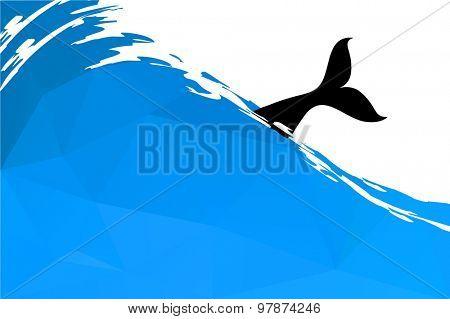 fish in water, vector illustration